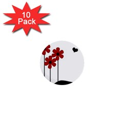Flowers 1  Mini Buttons (10 pack)