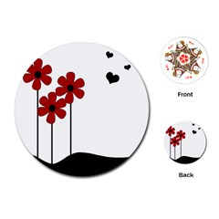 Flowers Playing Cards (Round)