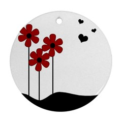 Flowers Round Ornament (Two Sides)