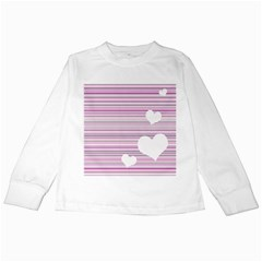 Pink Valentines day design Kids Long Sleeve T-Shirts