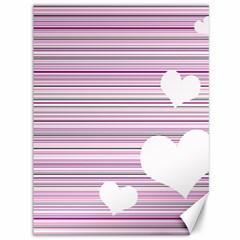 Pink Valentines day design Canvas 36  x 48