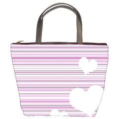 Pink Valentines day design Bucket Bags