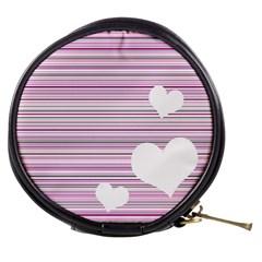 Pink Valentines Day Design Mini Makeup Bags