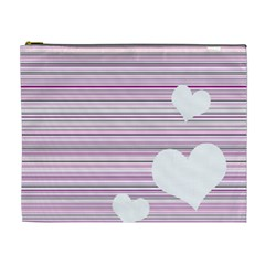 Pink Valentines day design Cosmetic Bag (XL)