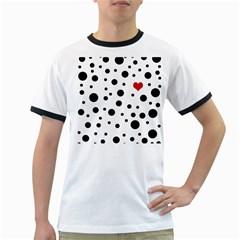 Dots and hart Ringer T-Shirts
