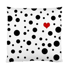 Dots and hart Standard Cushion Case (One Side)