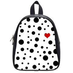 Dots and hart School Bags (Small)