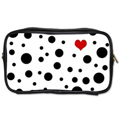 Dots and hart Toiletries Bags