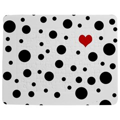 Dots and hart Jigsaw Puzzle Photo Stand (Rectangular)