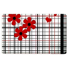 Cute Floral Desing Apple Ipad 3/4 Flip Case