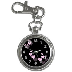 Pink harts design Key Chain Watches