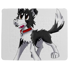 Cartoon Border Collie Jigsaw Puzzle Photo Stand (Rectangular)