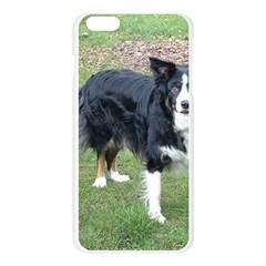 Border Collie Black Tri Full Apple Seamless iPhone 6 Plus/6S Plus Case (Transparent)