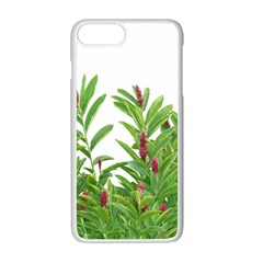 Tropical Floral Print Apple Iphone 7 Plus White Seamless Case