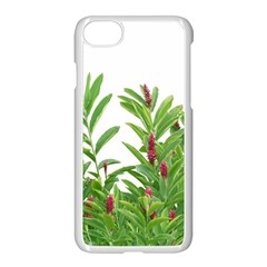 Tropical Floral Print Apple Iphone 7 Seamless Case (white)