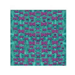Peace And Freedom Over The Sea Of Softness Small Satin Scarf (square)