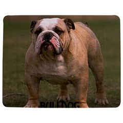 Bulldog Fawn And White Love W Pic Jigsaw Puzzle Photo Stand (Rectangular)