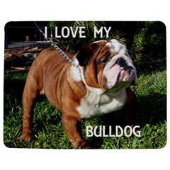 Bulldog Red And White Love W Pic Jigsaw Puzzle Photo Stand (Rectangular)