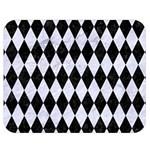DIAMOND1 BLACK MARBLE & WHITE MARBLE Double Sided Flano Blanket (Medium) 60 x50 Blanket Front