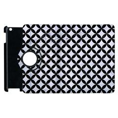 Circles3 Black Marble & White Marble (r) Apple Ipad 3/4 Flip 360 Case