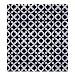 Circles3 Black Marble & White Marble Shower Curtain 66  X 72  (large)