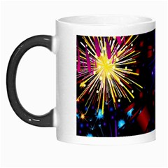 Celebration Fireworks In Red Blue Yellow And Green Color Morph Mugs