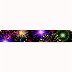 Celebration Fireworks In Red Blue Yellow And Green Color Small Bar Mats