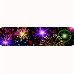 Celebration Fireworks In Red Blue Yellow And Green Color Large Bar Mats