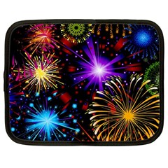 Celebration Fireworks In Red Blue Yellow And Green Color Netbook Case (large)