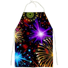 Celebration Fireworks In Red Blue Yellow And Green Color Full Print Aprons