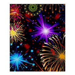Celebration Fireworks In Red Blue Yellow And Green Color Shower Curtain 60  X 72  (medium)