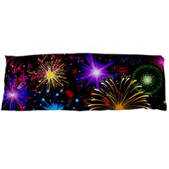 Celebration Fireworks In Red Blue Yellow And Green Color Body Pillow Case Dakimakura (two Sides)