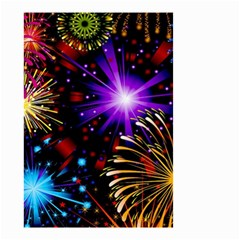 Celebration Fireworks In Red Blue Yellow And Green Color Small Garden Flag (two Sides)