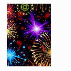 Celebration Fireworks In Red Blue Yellow And Green Color Large Garden Flag (two Sides)
