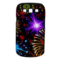 Celebration Fireworks In Red Blue Yellow And Green Color Samsung Galaxy S Iii Classic Hardshell Case (pc+silicone)