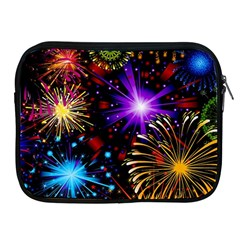 Celebration Fireworks In Red Blue Yellow And Green Color Apple Ipad 2/3/4 Zipper Cases