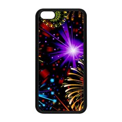 Celebration Fireworks In Red Blue Yellow And Green Color Apple Iphone 5c Seamless Case (black)