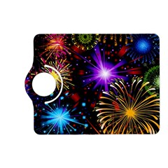 Celebration Fireworks In Red Blue Yellow And Green Color Kindle Fire Hd (2013) Flip 360 Case