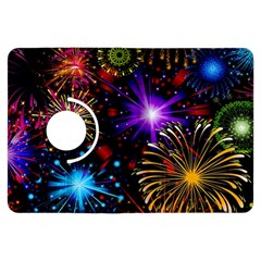 Celebration Fireworks In Red Blue Yellow And Green Color Kindle Fire Hdx Flip 360 Case
