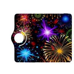 Celebration Fireworks In Red Blue Yellow And Green Color Kindle Fire Hdx 8 9  Flip 360 Case