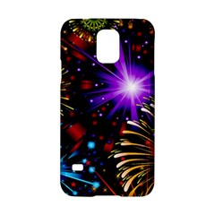 Celebration Fireworks In Red Blue Yellow And Green Color Samsung Galaxy S5 Hardshell Case