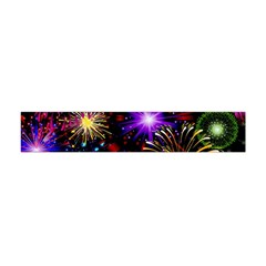 Celebration Fireworks In Red Blue Yellow And Green Color Flano Scarf (Mini)