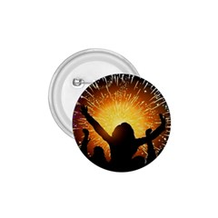 Celebration Night Sky With Fireworks In Various Colors 1 75  Buttons