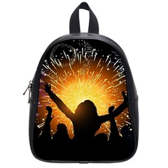 Celebration Night Sky With Fireworks In Various Colors School Bags (small)