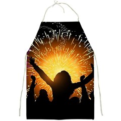 Celebration Night Sky With Fireworks In Various Colors Full Print Aprons