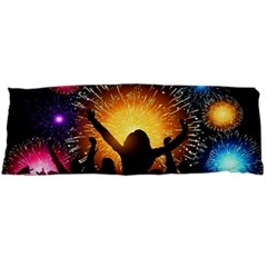 Celebration Night Sky With Fireworks In Various Colors Body Pillow Case Dakimakura (two Sides)