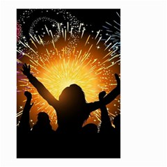 Celebration Night Sky With Fireworks In Various Colors Small Garden Flag (two Sides)