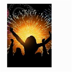 Celebration Night Sky With Fireworks In Various Colors Large Garden Flag (two Sides)