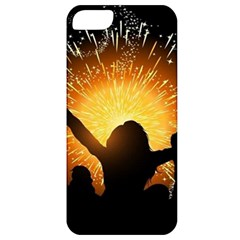 Celebration Night Sky With Fireworks In Various Colors Apple Iphone 5 Classic Hardshell Case