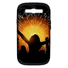 Celebration Night Sky With Fireworks In Various Colors Samsung Galaxy S Iii Hardshell Case (pc+silicone)